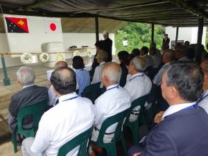 2月13日ラバウル南太平洋戦没者の碑にて