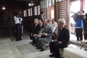 山口県護国神社で遺留品の返還式が開催された。