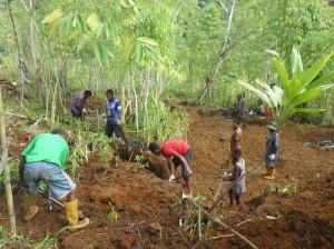 サラワケット山系バワンで日本兵埋葬地を試掘