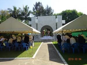 北オカラッパ日本人墓地「ビルマ平和記念碑」での全戦没者追悼式