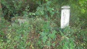 小学校の敷地内に放置されている井戸と慰霊碑=マンダレー地区で