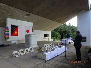 ラバウル「南太平洋戦没者の碑」 2月17日 DSC02291
